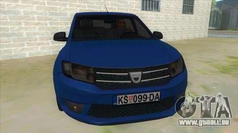 2016 Dacia Sandero pour GTA San Andreas vue arrière