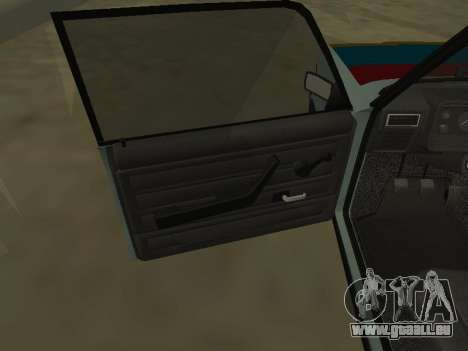 2107 pour GTA San Andreas vue de dessus