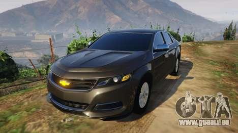 Chevrolet Impala 2015 pour GTA 5