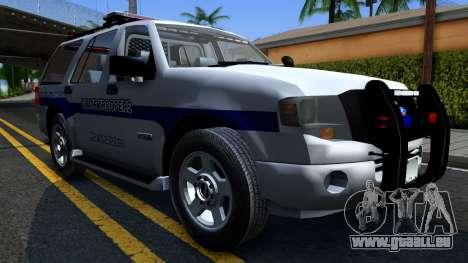 Ford Expedition SAST CVE 2008 pour GTA San Andreas vue arrière