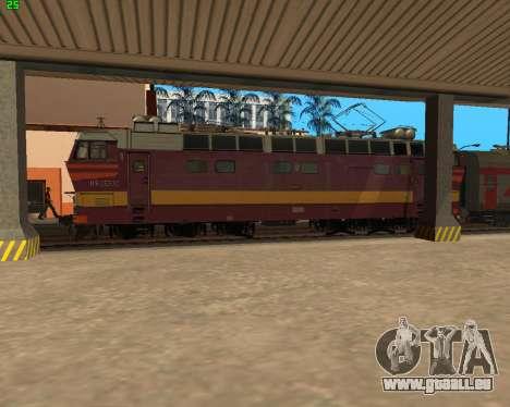 Passenger locomotive CHS4t-521 pour GTA San Andreas vue de dessus
