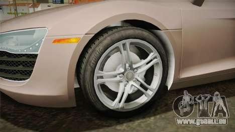 Audi R8 Coupe 4.2 FSI quattro US-Spec v1.0.0 v4 für GTA San Andreas Rückansicht
