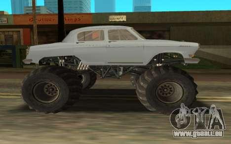 Volga GAZ21 pour GTA San Andreas sur la vue arrière gauche
