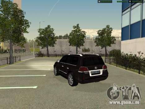 Lexus LX 570 2011 pour GTA San Andreas laissé vue