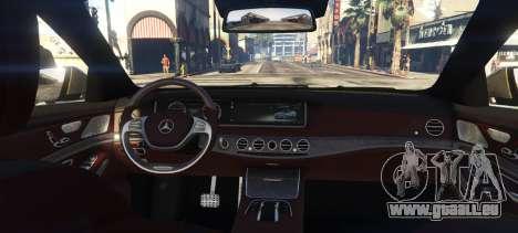 GTA 5 Mercedes-Benz S65 W222 arrière vue latérale gauche