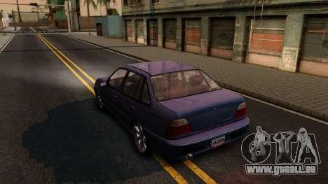 Daewoo Cielo 2001 pour GTA San Andreas sur la vue arrière gauche