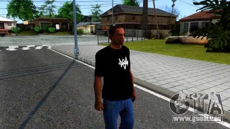 T-Shirt Watch Dogs 2 für GTA San Andreas zweiten Screenshot