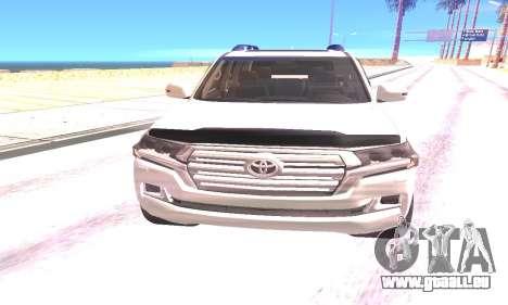 Toyota Land Cruiser 200 2016 pour GTA San Andreas vue arrière
