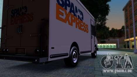 GTA IV Brute Boxville with SpandEx livery für GTA San Andreas Rückansicht