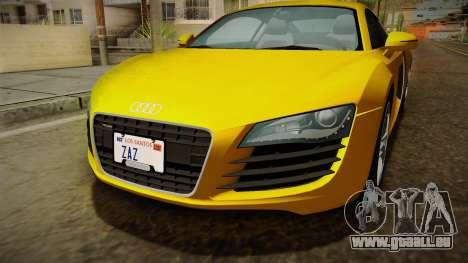 Audi R8 Coupe 4.2 FSI quattro EU-Spec 2008 Dirt pour GTA San Andreas vue de côté