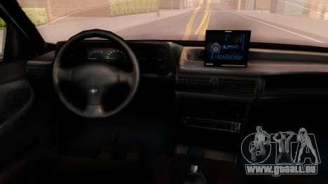 Daewoo Cielo 2001 pour GTA San Andreas vue intérieure