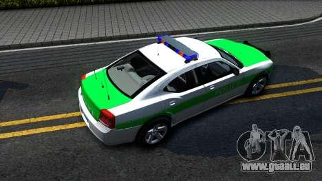 Dodge Charger German Police 2008 pour GTA San Andreas vue arrière