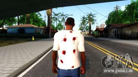 White I am Fine T-Shirt pour GTA San Andreas troisième écran