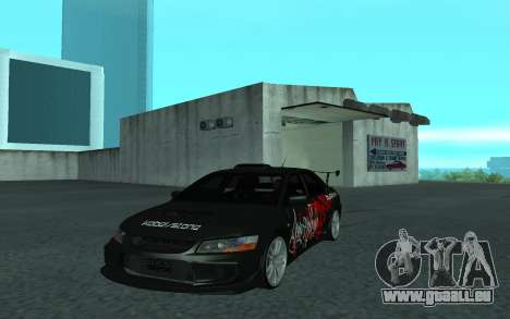 Mitsubishi Lancer Evolution VII für GTA San Andreas Rückansicht