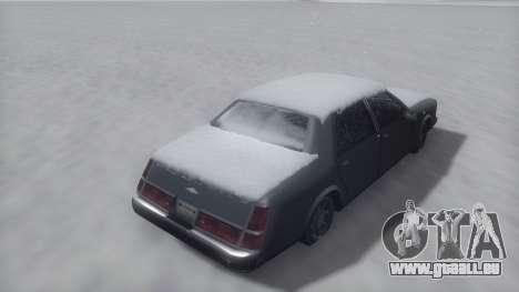 Washington Winter IVF pour GTA San Andreas vue de droite