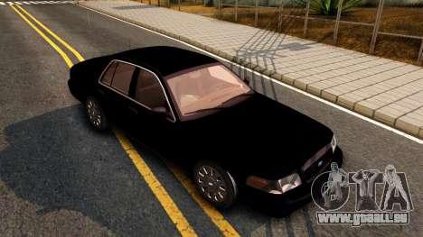 Ford Crown Victoria Detective 2008 pour GTA San Andreas laissé vue