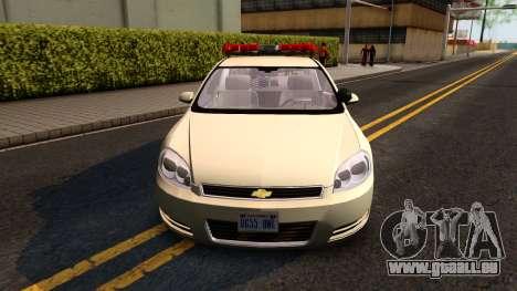 2007 Chevy Impala Bayside Police pour GTA San Andreas laissé vue