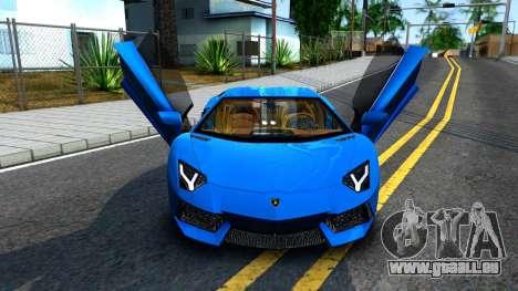 Lamborghini Aventador LP700-4 Light Tune pour GTA San Andreas vue arrière