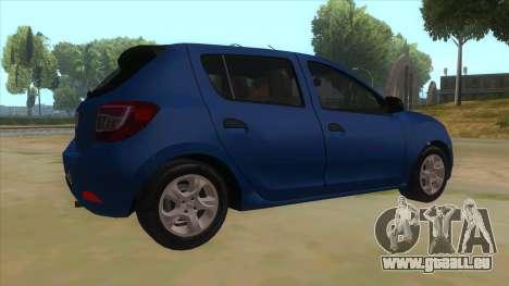 2016 Dacia Sandero pour GTA San Andreas vue de droite