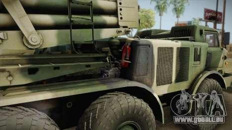 BM-27 Uragan (9P140) für GTA San Andreas rechten Ansicht