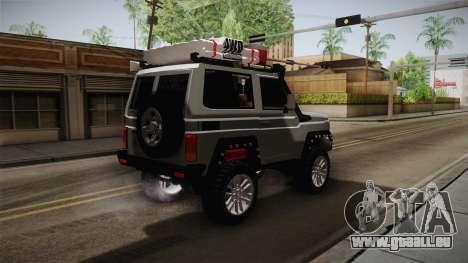 Toyota Land Cruiser Machito 2013 Sound Y pour GTA San Andreas sur la vue arrière gauche
