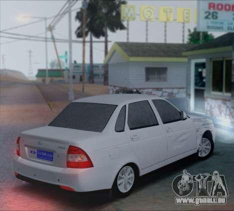 VAZ 2170 Priorik pour GTA San Andreas sur la vue arrière gauche