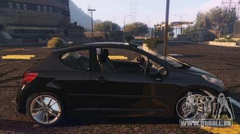 GTA 5 Peugeot 207 vue latérale gauche