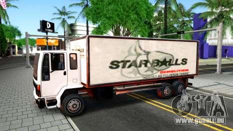 DFT-30 Box Truck pour GTA San Andreas vue intérieure