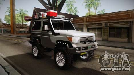 Toyota Land Cruiser Machito 2013 Sound Y pour GTA San Andreas vue de droite