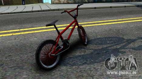 BMX Enhance pour GTA San Andreas sur la vue arrière gauche