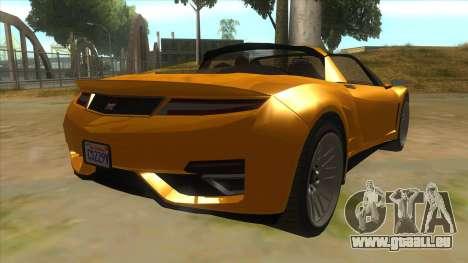 GTA V Dynka Jester Spider für GTA San Andreas rechten Ansicht