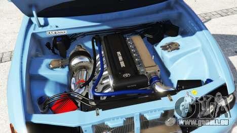 GTA 5 Toyota Chaser (JZX100) v1.1 [add-on] rechte Seitenansicht