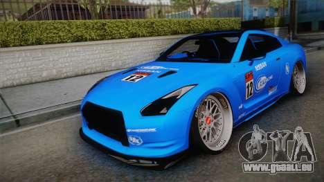 Nissan GT-R R35 2015 für GTA San Andreas Unteransicht