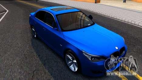 BMW E60 520D M Technique für GTA San Andreas linke Ansicht