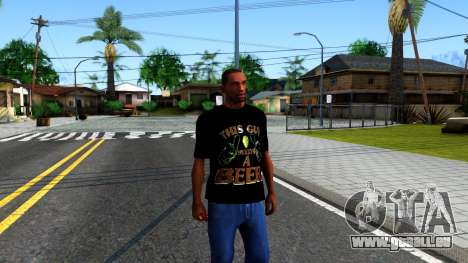 Black Beer T-Shirt für GTA San Andreas zweiten Screenshot