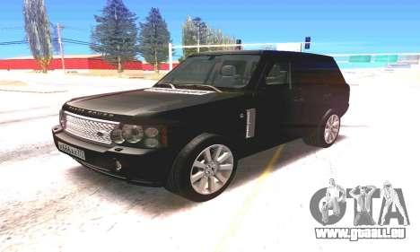 Land Rover 2010 pour GTA San Andreas laissé vue