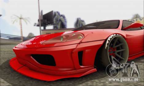 Ferrari 360 LB Work für GTA San Andreas zurück linke Ansicht