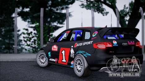 Audi RS3 Sportback Rally WRC pour GTA San Andreas sur la vue arrière gauche