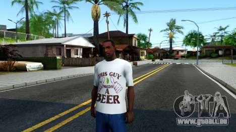 White Beer T-Shirt für GTA San Andreas