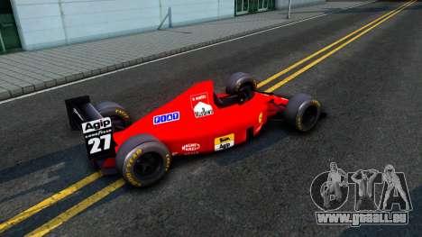 Ferrari 640 F1 1989 pour GTA San Andreas sur la vue arrière gauche