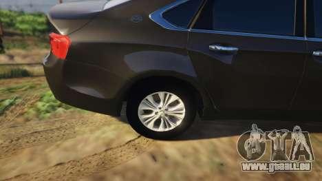 GTA 5 Chevrolet Impala 2015 droite vue latérale