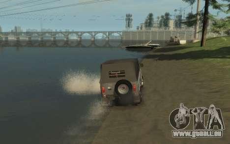 УАЗ 469 (Paul Black prod.) pour GTA 4 est une vue de l'intérieur