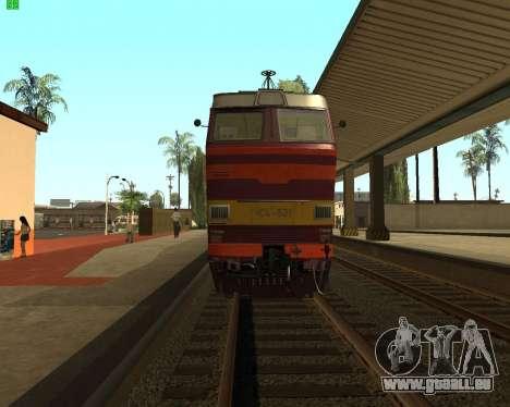 Passenger locomotive CHS4t-521 pour GTA San Andreas vue de droite