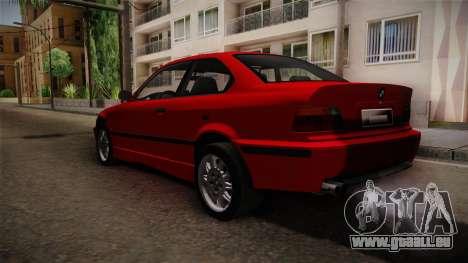 BMW 328i E36 Coupe für GTA San Andreas zurück linke Ansicht