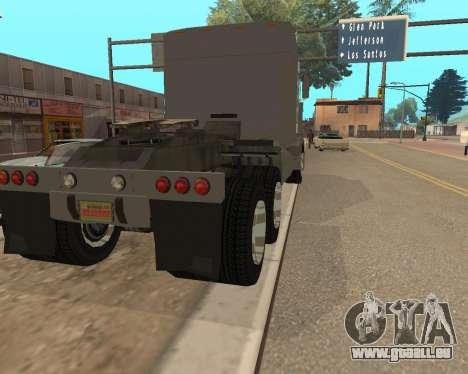 Dude Road Train pour GTA San Andreas sur la vue arrière gauche