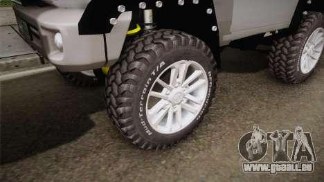 Toyota Land Cruiser Machito 2013 Sound Y für GTA San Andreas Rückansicht