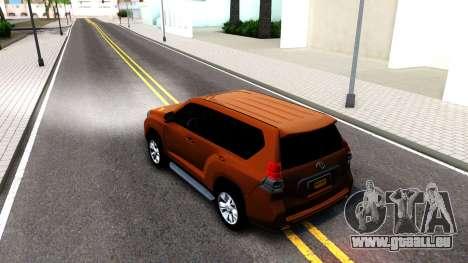 Toyota Land Cruiser Prado pour GTA San Andreas vue de droite