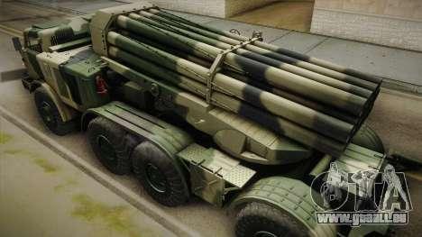 BM-27 Uragan (9P140) für GTA San Andreas Innenansicht