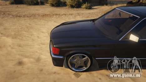 GTA 5 Mercedez-Benz 560 SEC rechte Seitenansicht