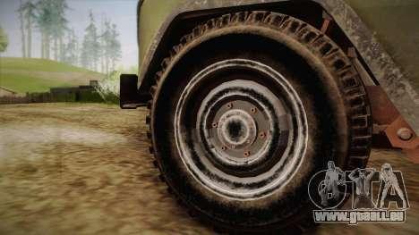 УАЗ-3151 CoD4 MW Remastered pour GTA San Andreas sur la vue arrière gauche